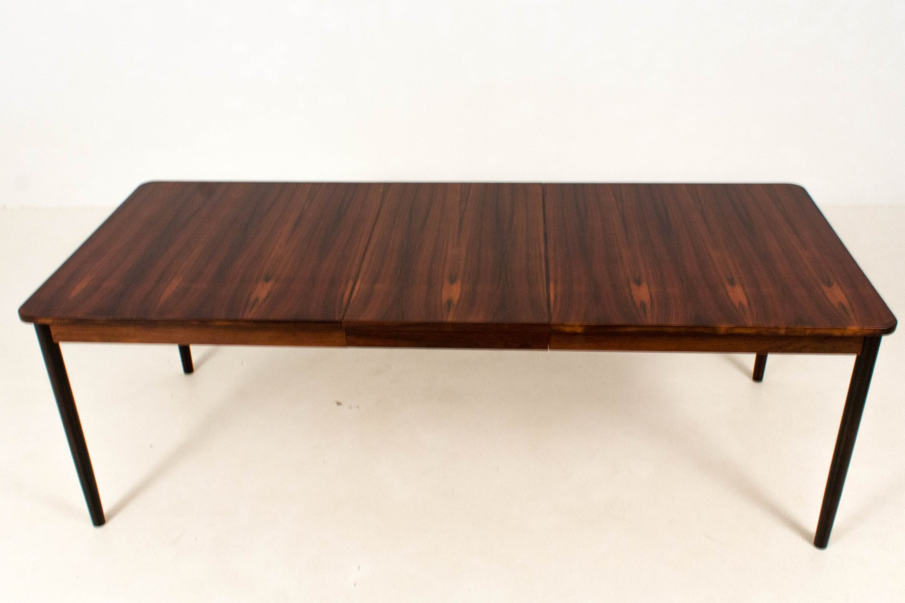 Mid century modern large extendable dining table from for Big modern dining table