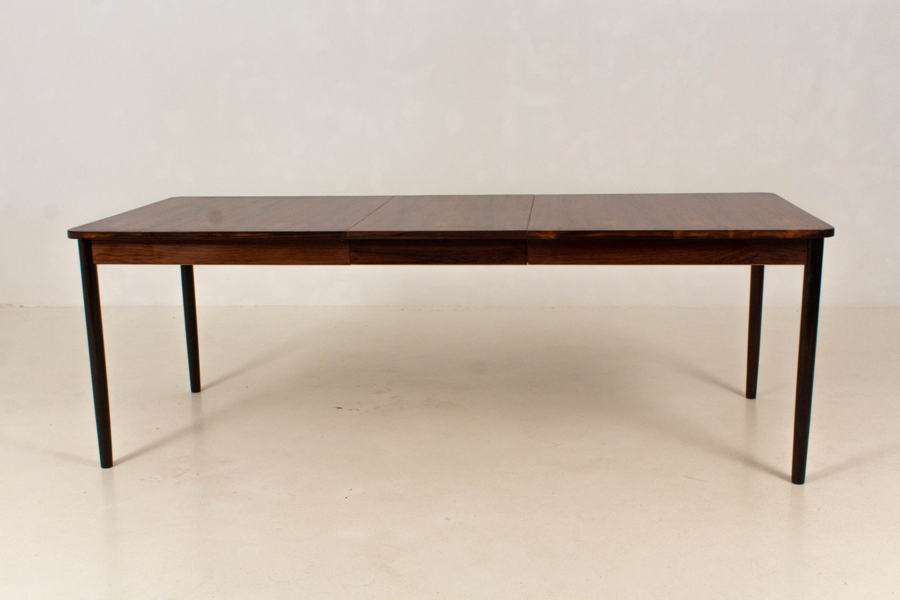 Mid century modern large extendable dining table from for Modern large dining table