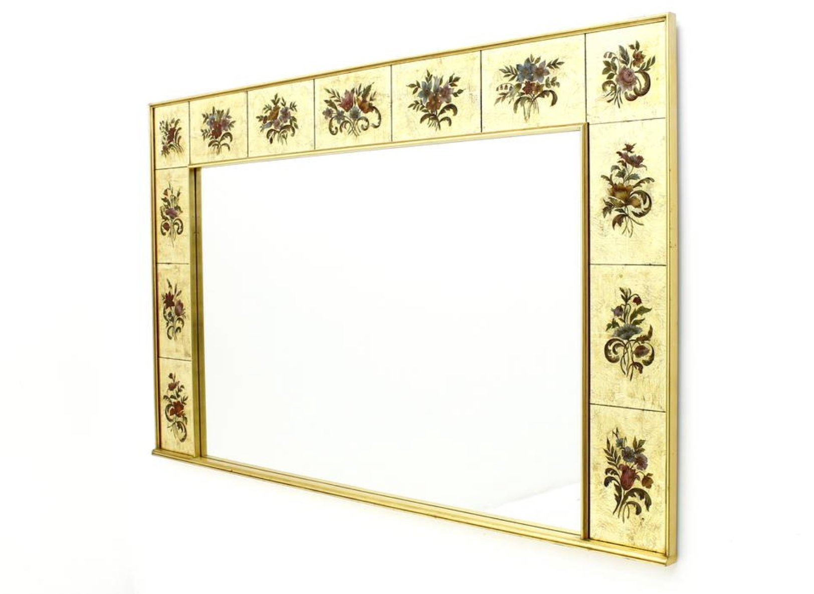 Large decorative wall mirror 1980s for sale at pamono Large wooden mirrors for sale