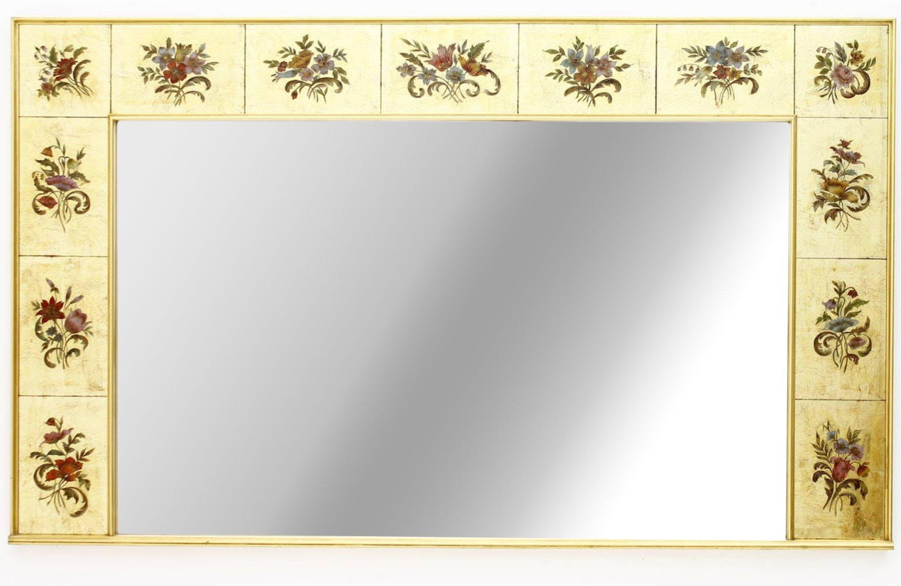 Grand miroir mural d coratif 1980s en vente sur pamono for Grand miroir mural horizontal