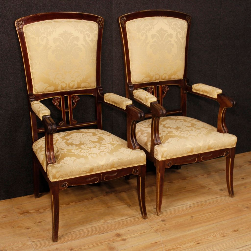 Spanish Armchairs In Mahogany 1920s Set Of 2 For Sale At