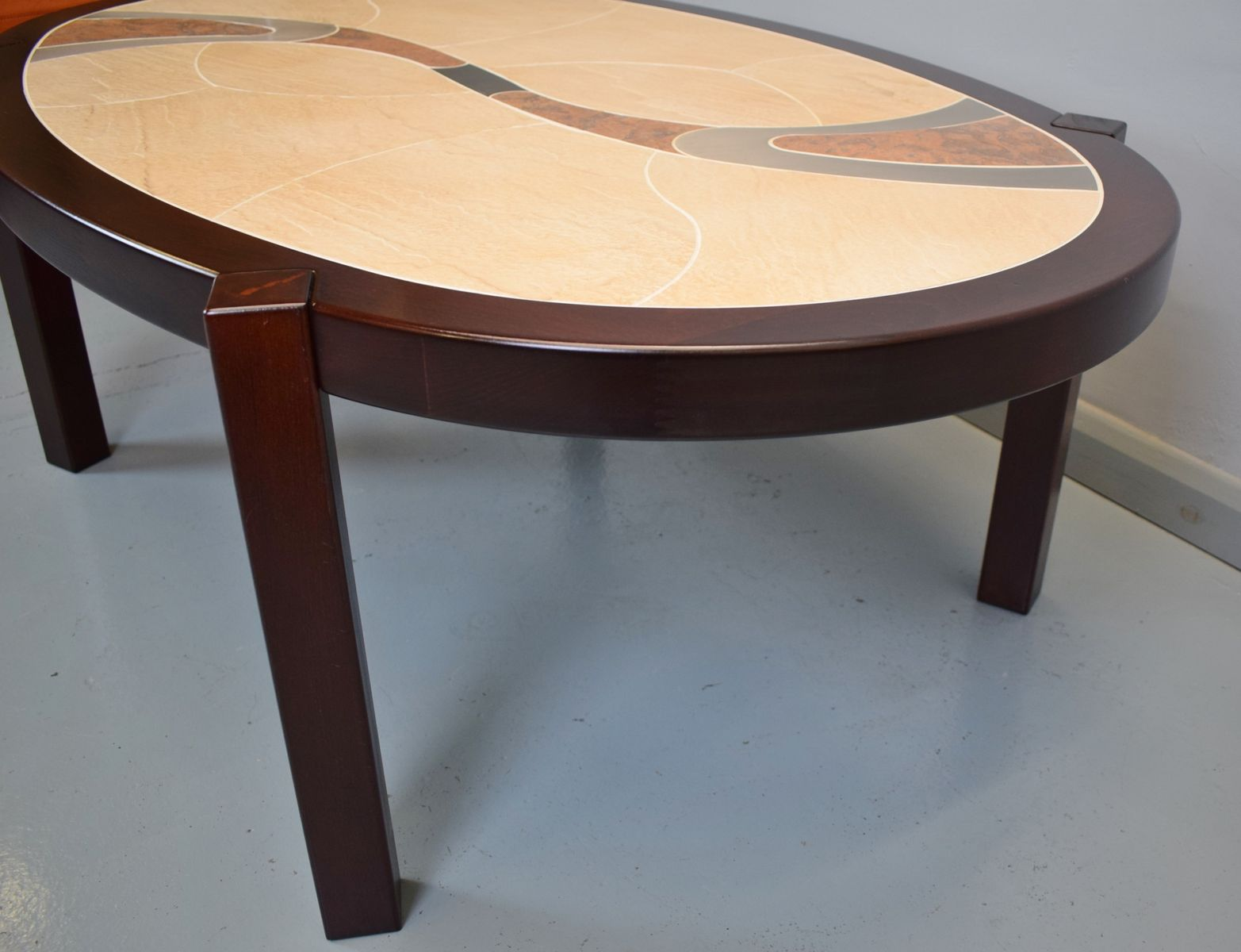 mid-century danish tiled coffee table from haslev for sale at pamono