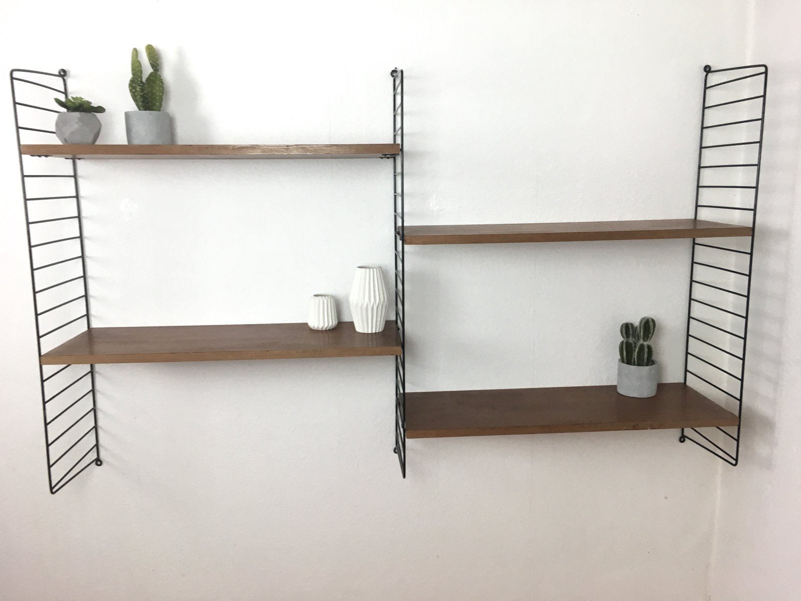 Mid-Century Teak Wall Shelf by Nisse Strinning for String, 1960s ...