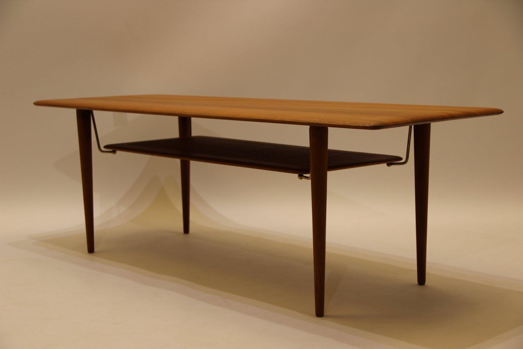 Vintage Fd516 Coffee Table In Teak By Peter Hvidt Orla M Lgaard Nielsen For France