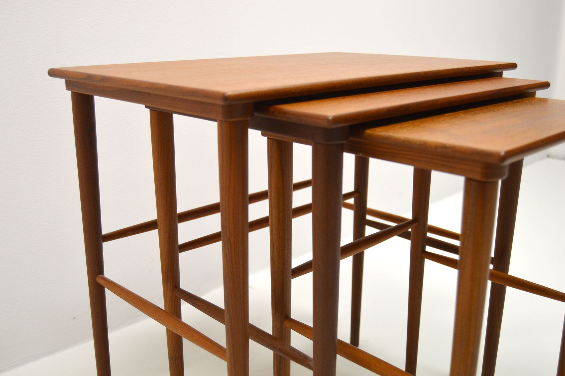 Teak Nesting Tables ~ Vintage danish teak nesting tables for sale at pamono