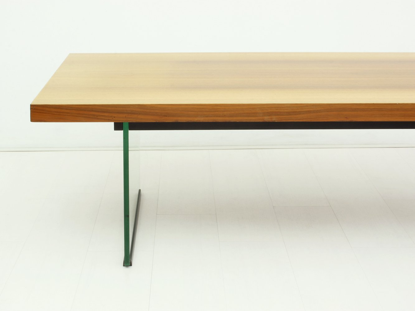 Glass Walnut Coffee Table 1950s For Sale At Pamono