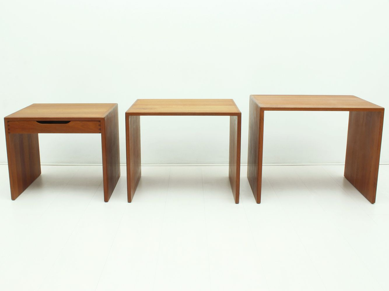 Solid Teak Nesting Tables 1960s For Sale At Pamono