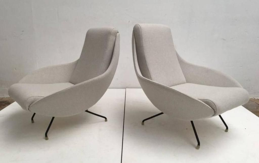 Italian Sculptural Mantis Form Lounge Chairs, 1950s, Set of 2 for ...