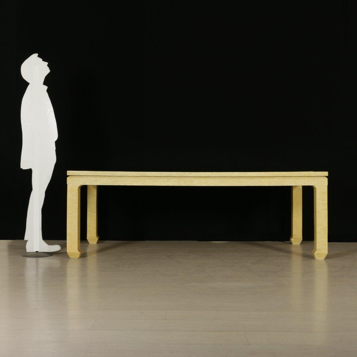 vintage tisch aus holz elfenbein imitat bei pamono kaufen. Black Bedroom Furniture Sets. Home Design Ideas