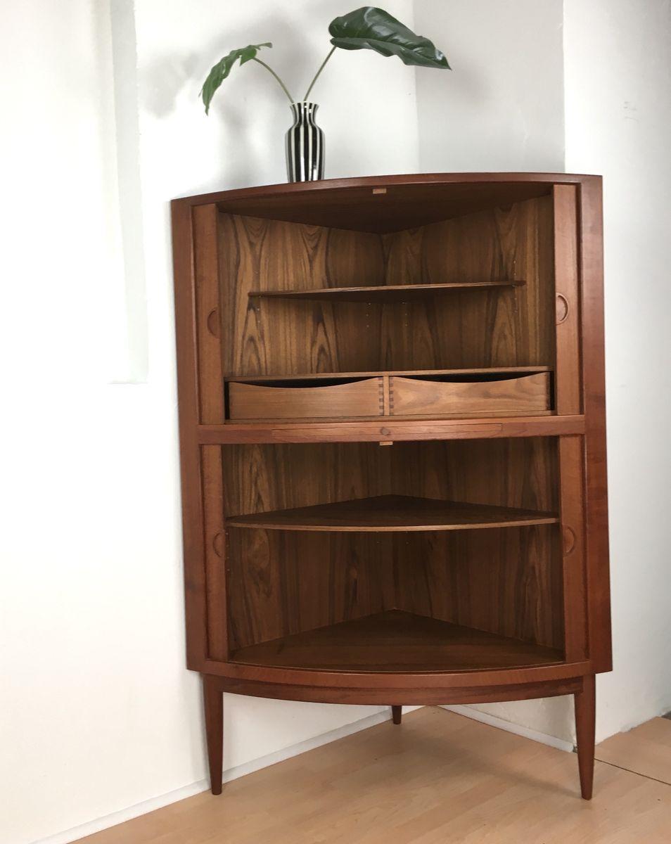 Scandinavian vintage teak corner cabinet 1960s for sale for 1960 kitchen cabinets for sale