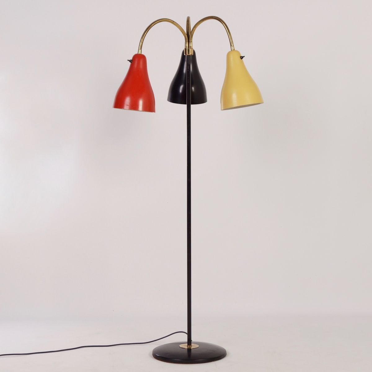 Mid Century Dutch Floor Lamp With Three Shades For Sale At