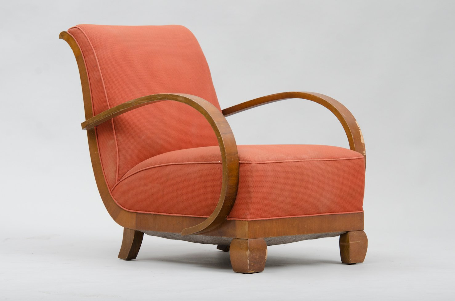 Art Deco Armchair In Walnut For Sale At Pamono