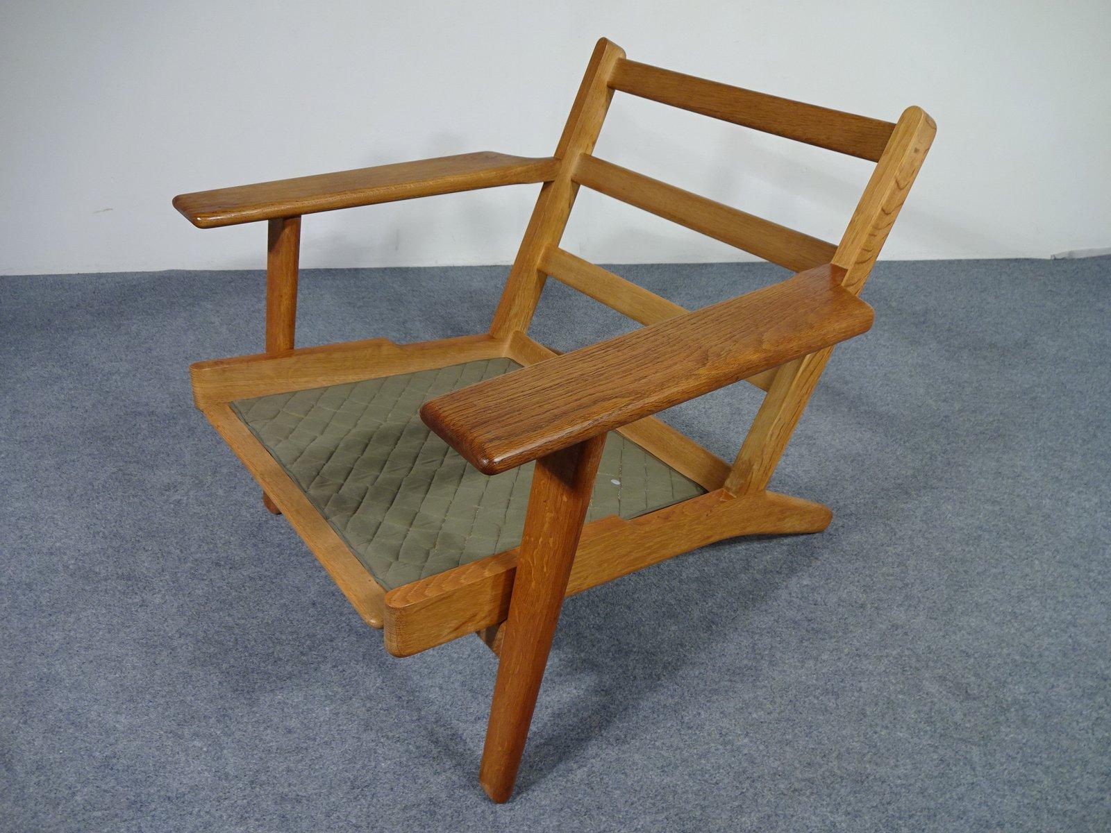ge 290 oak armchair by hans j wegner for getama 1950s. Black Bedroom Furniture Sets. Home Design Ideas