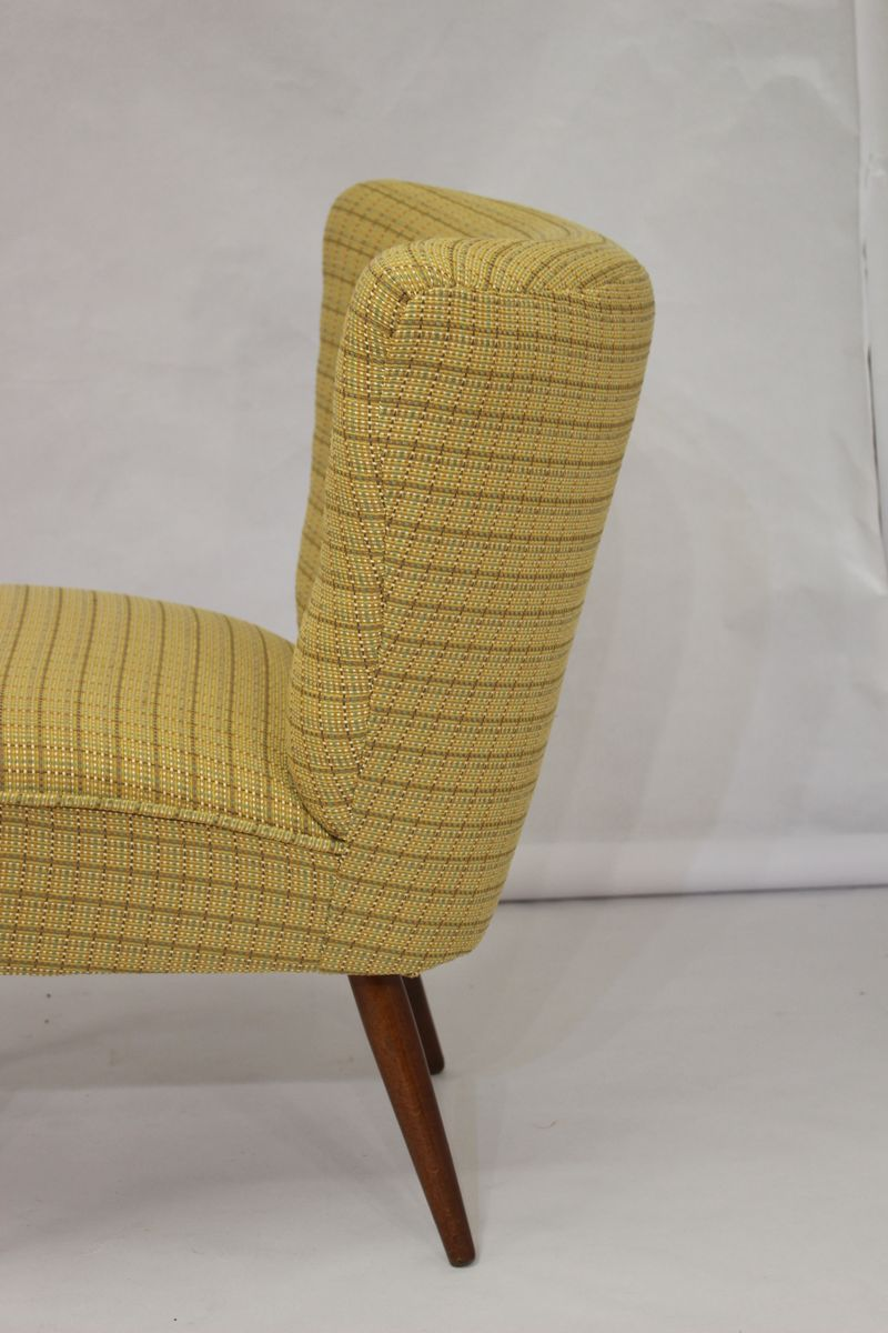 fauteuil cocktail vintage jaune 1950s en vente sur pamono. Black Bedroom Furniture Sets. Home Design Ideas