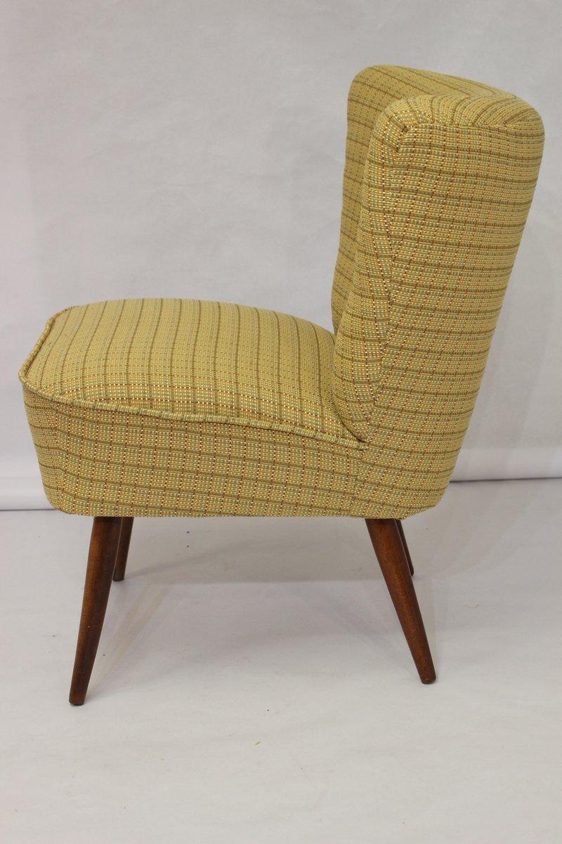 gelber vintage cocktail sessel 1950er bei pamono kaufen. Black Bedroom Furniture Sets. Home Design Ideas