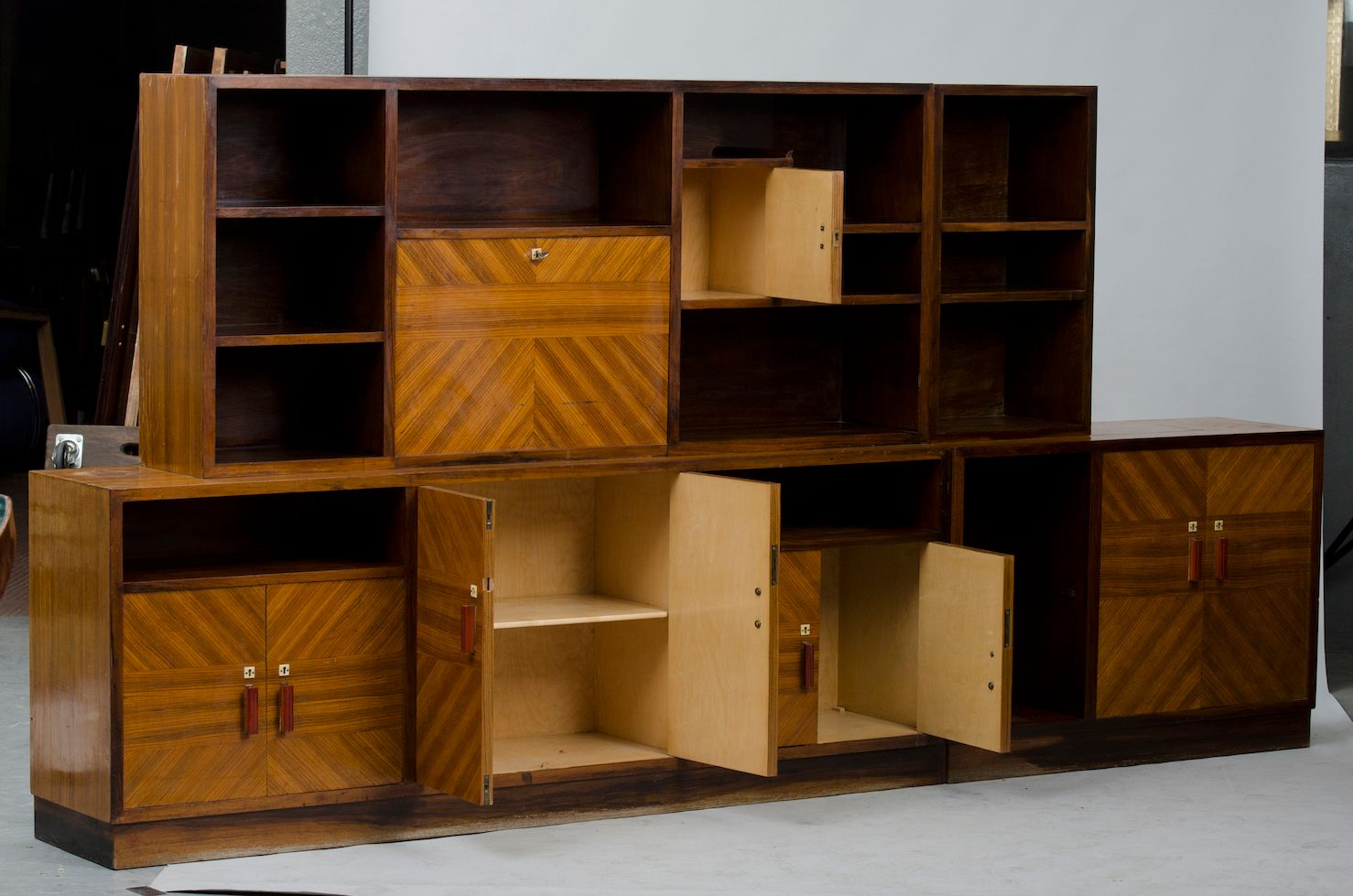 unit de biblioth que art d co en vente sur pamono. Black Bedroom Furniture Sets. Home Design Ideas