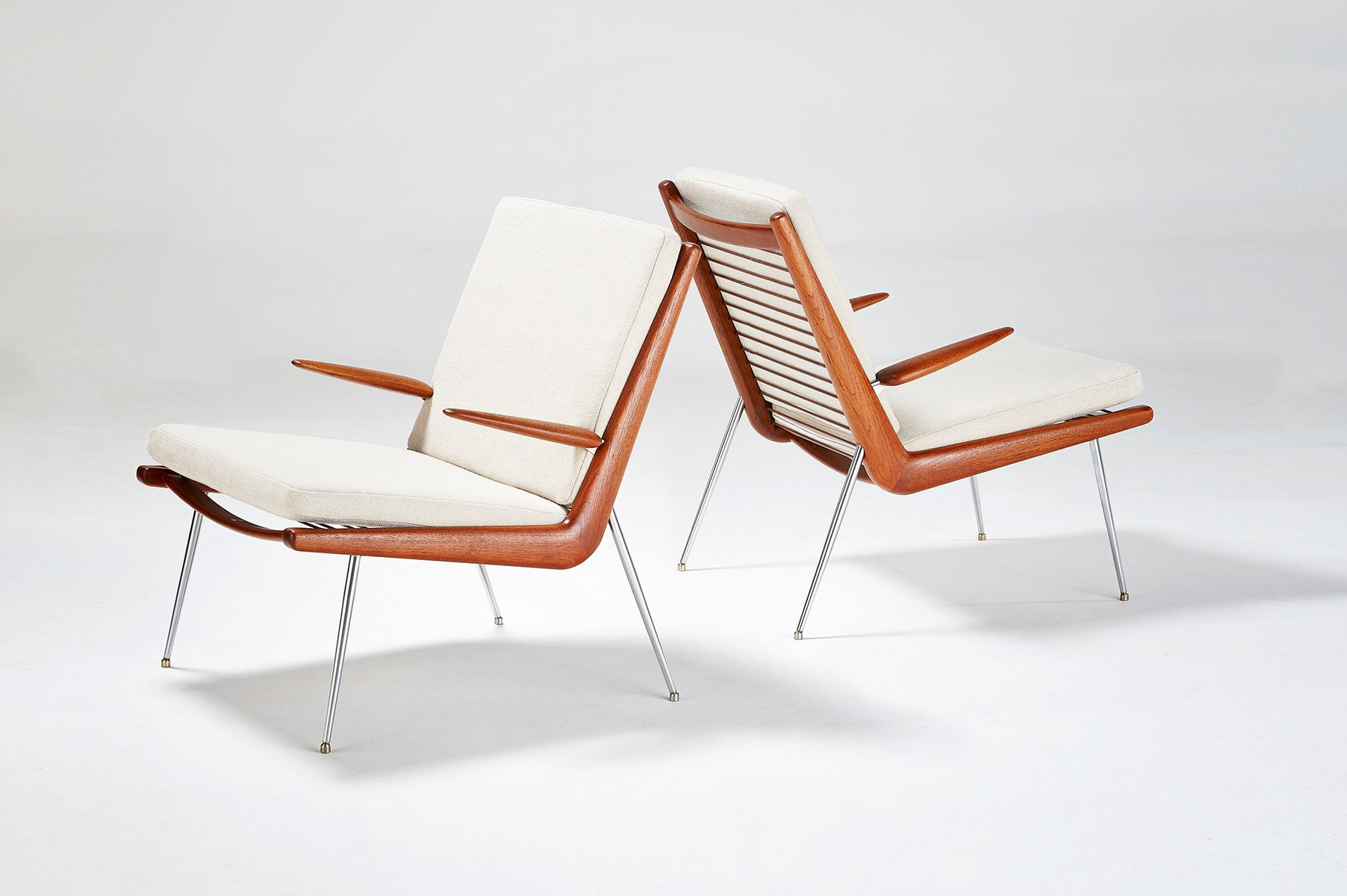 FD 135 Boomerang Chairs by Peter Hvidt and Orla Molgaard Nielsen