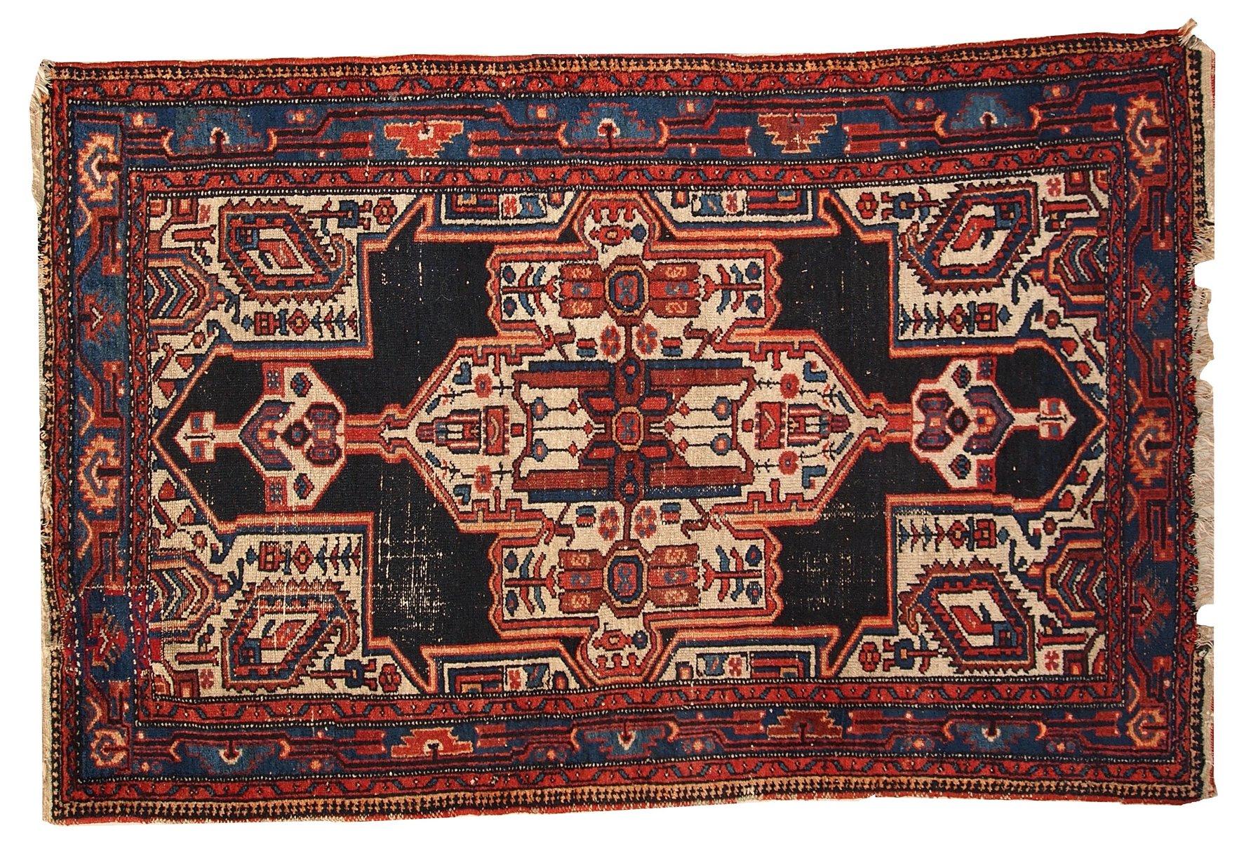 Vintage Hamadan Persian Handmade Rug, 1920s For Sale At Pamono