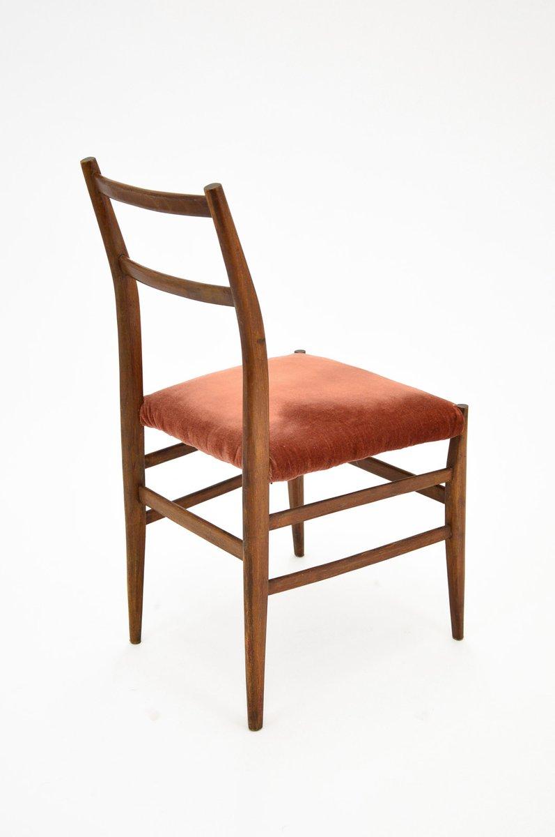 Mid Century Leggera Chairs By Gio Ponti For Cassina Set