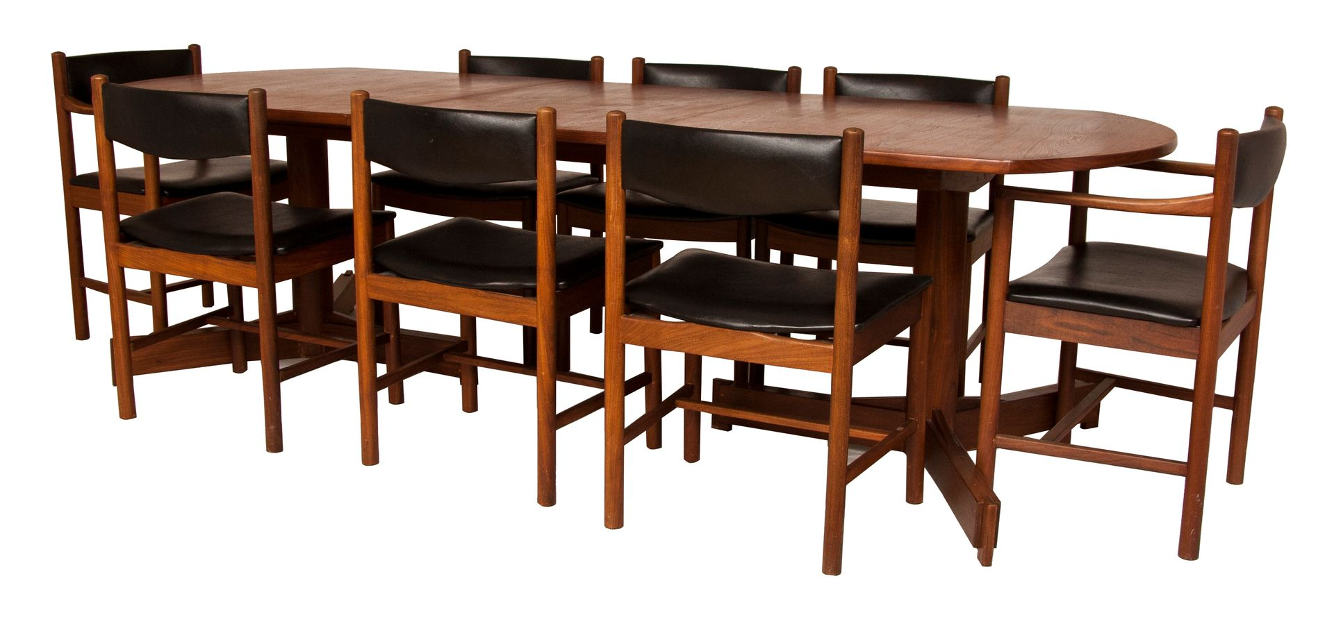 Teak Dining Table And Eight Chairs By Robert Heritage For Archie Shine 1960s