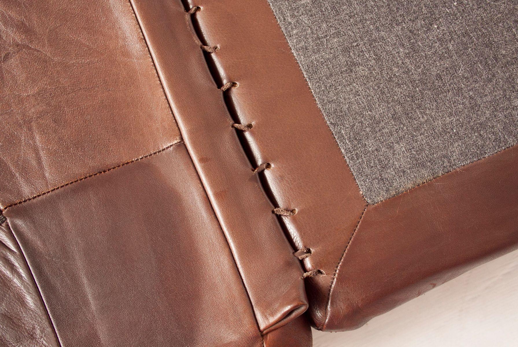 ds85 sofa oder schlafsofa aus braunem leder von de sede. Black Bedroom Furniture Sets. Home Design Ideas