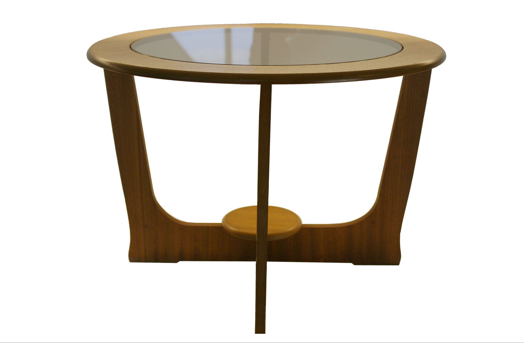 table basse ronde vintage en teck royaume uni 1960s en vente sur pamono. Black Bedroom Furniture Sets. Home Design Ideas