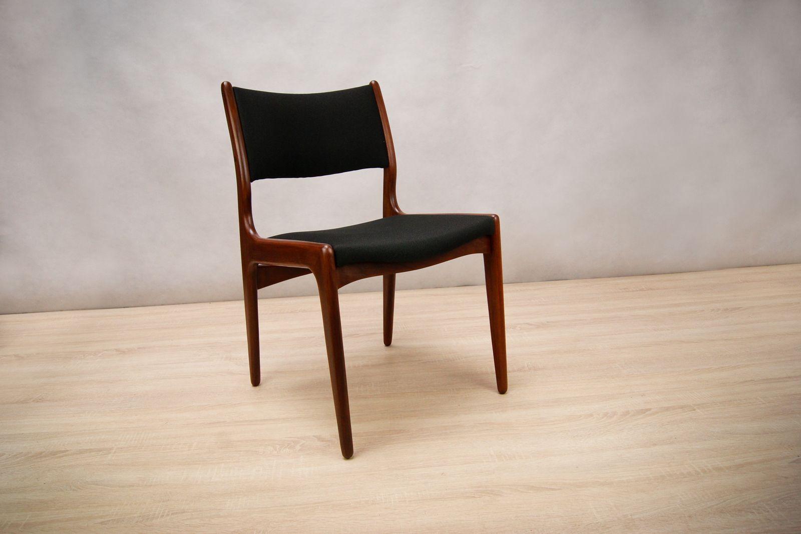 d nische mid century teak st hle 8er set bei pamono kaufen. Black Bedroom Furniture Sets. Home Design Ideas