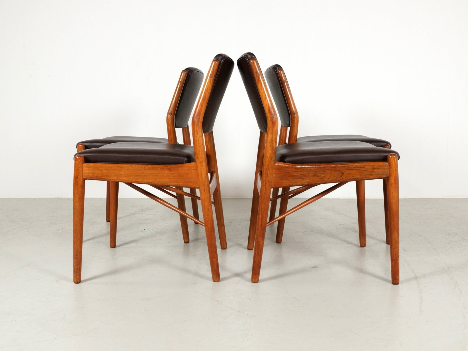 Danish Dining Chair danish dining chairsarne vodder for sibast, 1960s, set of 4