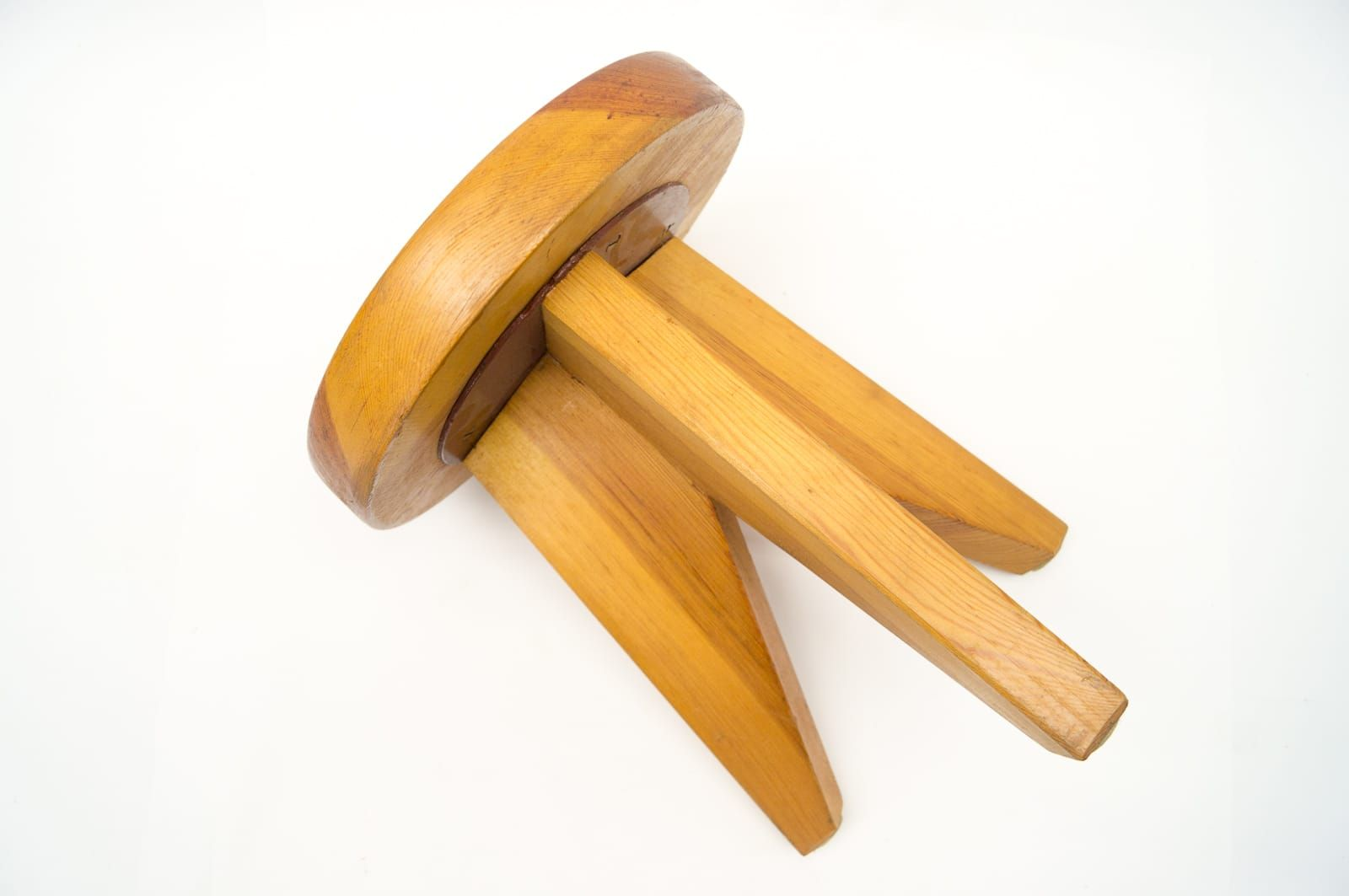 French three legged wooden stool s for sale at pamono