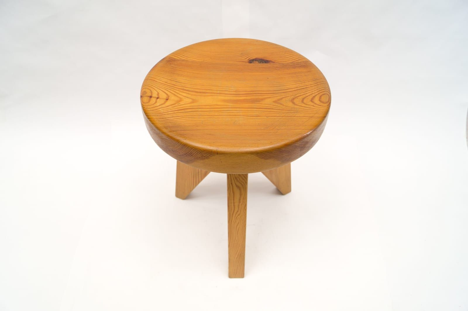 3 Legged Wooden Stool ~ French three legged wooden stool s for sale at pamono