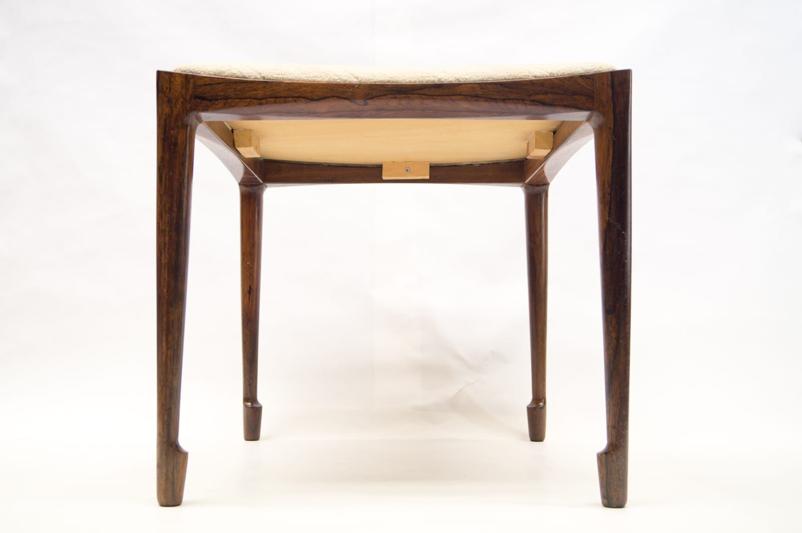 4 Legged Stool ~ Brazilian rio rosewood four legged stool by bernt petersen