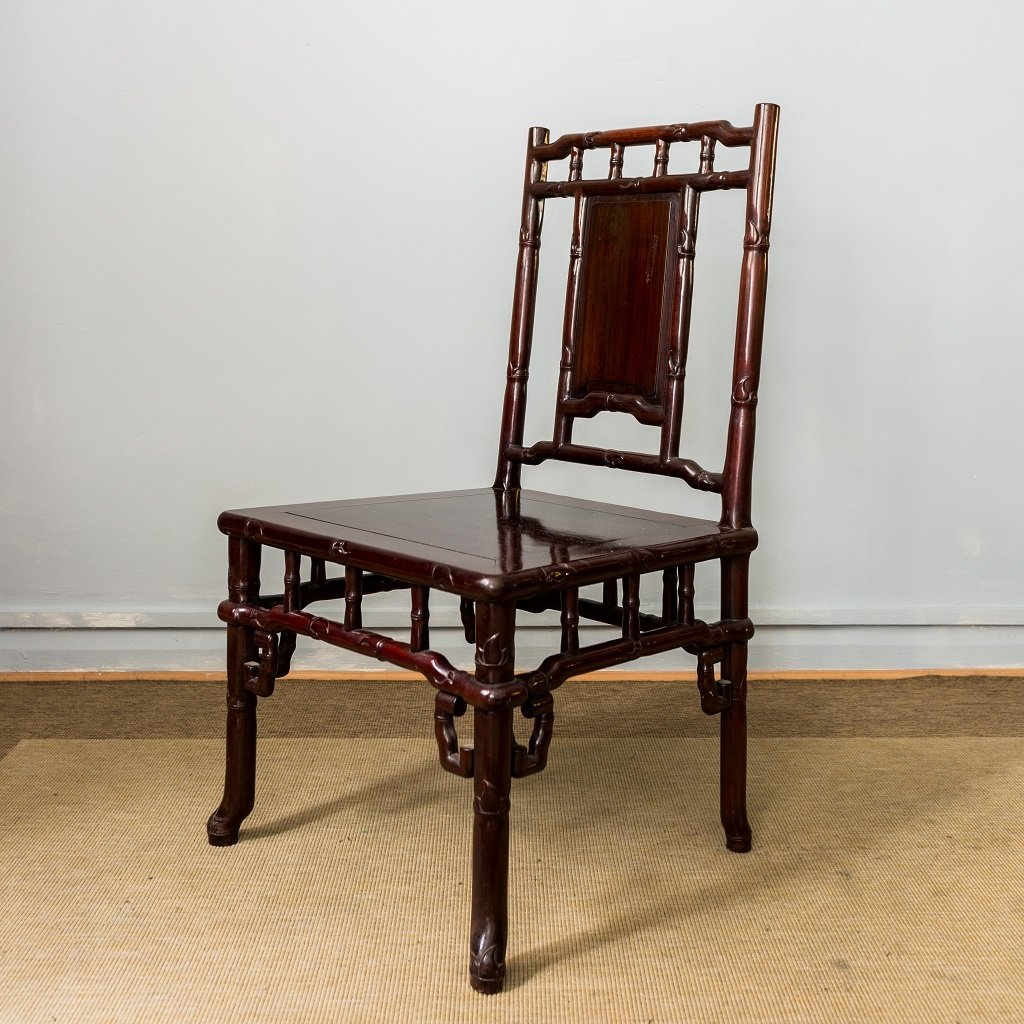 chinesische vintage palisander st hle 4er set bei pamono kaufen. Black Bedroom Furniture Sets. Home Design Ideas