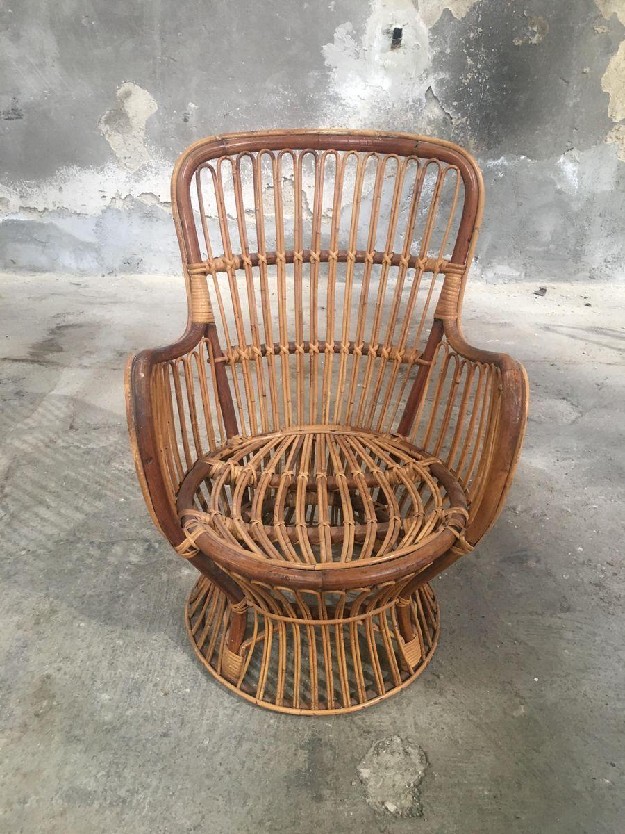 italienischer bambus rattan beistelltisch 4 st hle. Black Bedroom Furniture Sets. Home Design Ideas