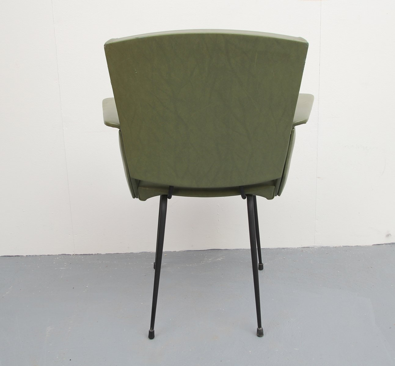 Olive Green Chair 1950s for sale at Pamono
