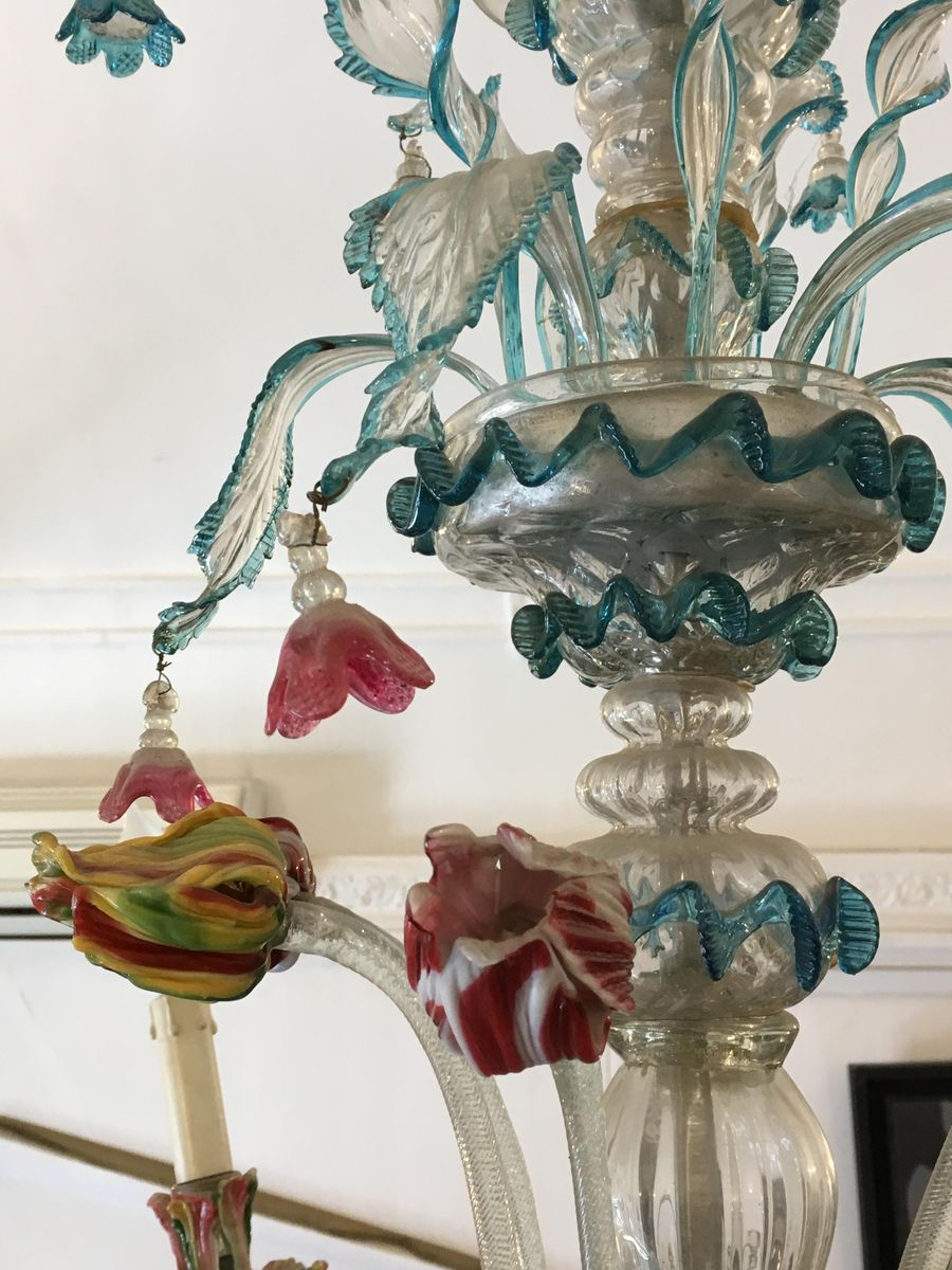 chandelier en verre de murano 1890s en vente sur pamono. Black Bedroom Furniture Sets. Home Design Ideas