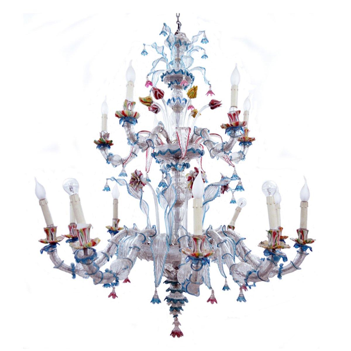 chandelier en verre de murano 1890s en vente sur pamono. Black Bedroom Furniture Sets. Home Design Ideas