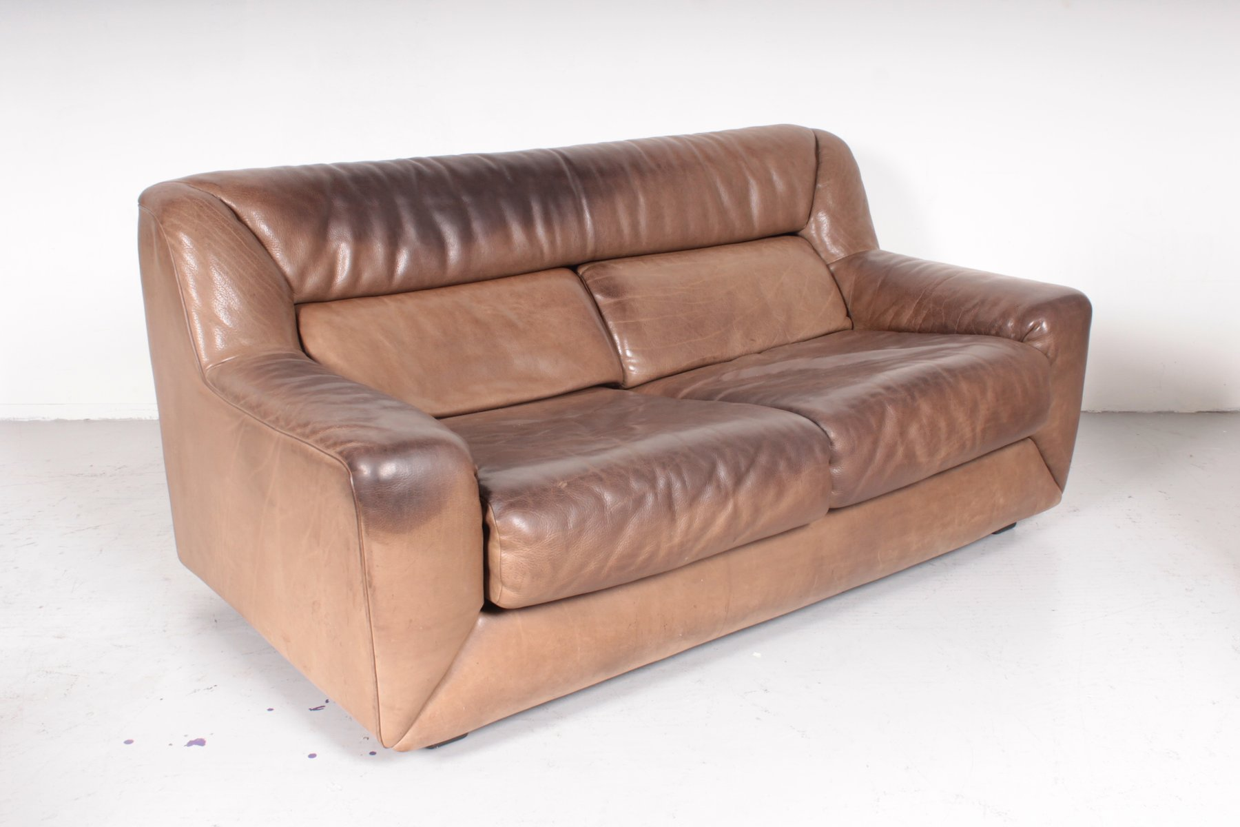 swiss ds43 leather sofa from de sede 1980s for sale at pamono. Black Bedroom Furniture Sets. Home Design Ideas