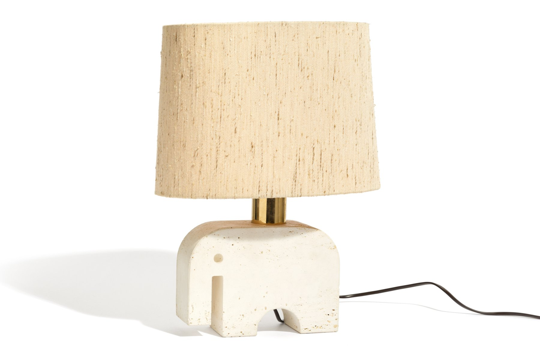 Stacked elephant lamp - Italian Travertine Elephant Lamp From Fratelli Minnelli 1970s For Sale At Pamono