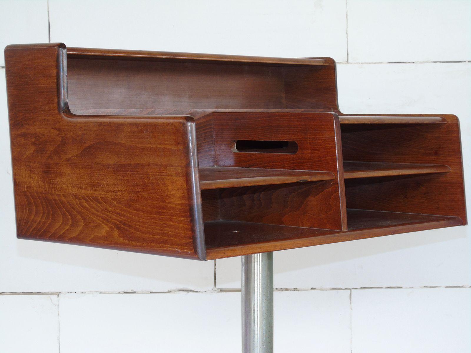 italienischer schreibtisch aus stahl holz von fimsa 1960er bei pamono kaufen. Black Bedroom Furniture Sets. Home Design Ideas