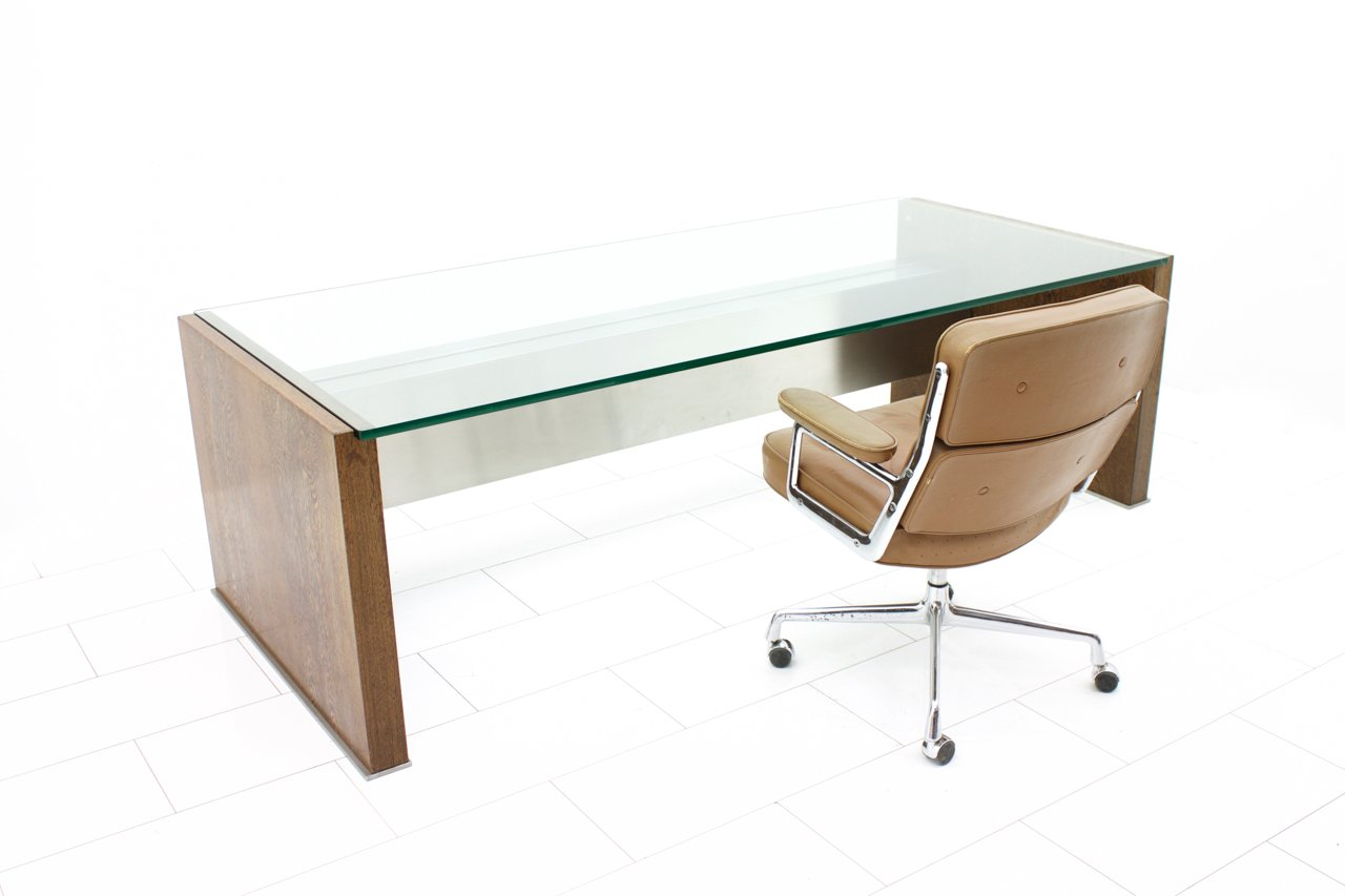 large executive wenge veneer writing desk by marco fantoni for  - price per piece