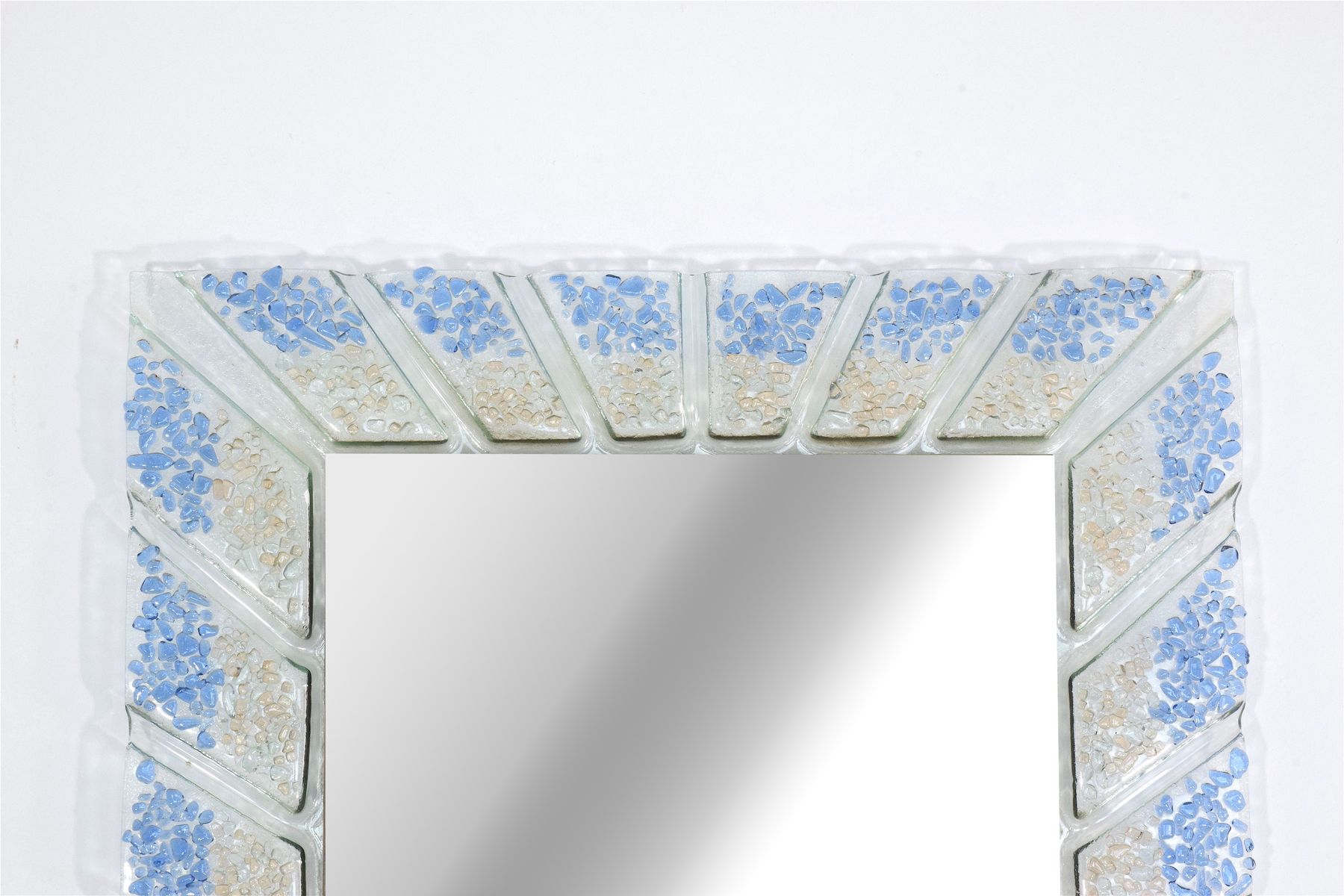Vintage mid century murano glass mirror 1970s for sale at for Glass and mirror company