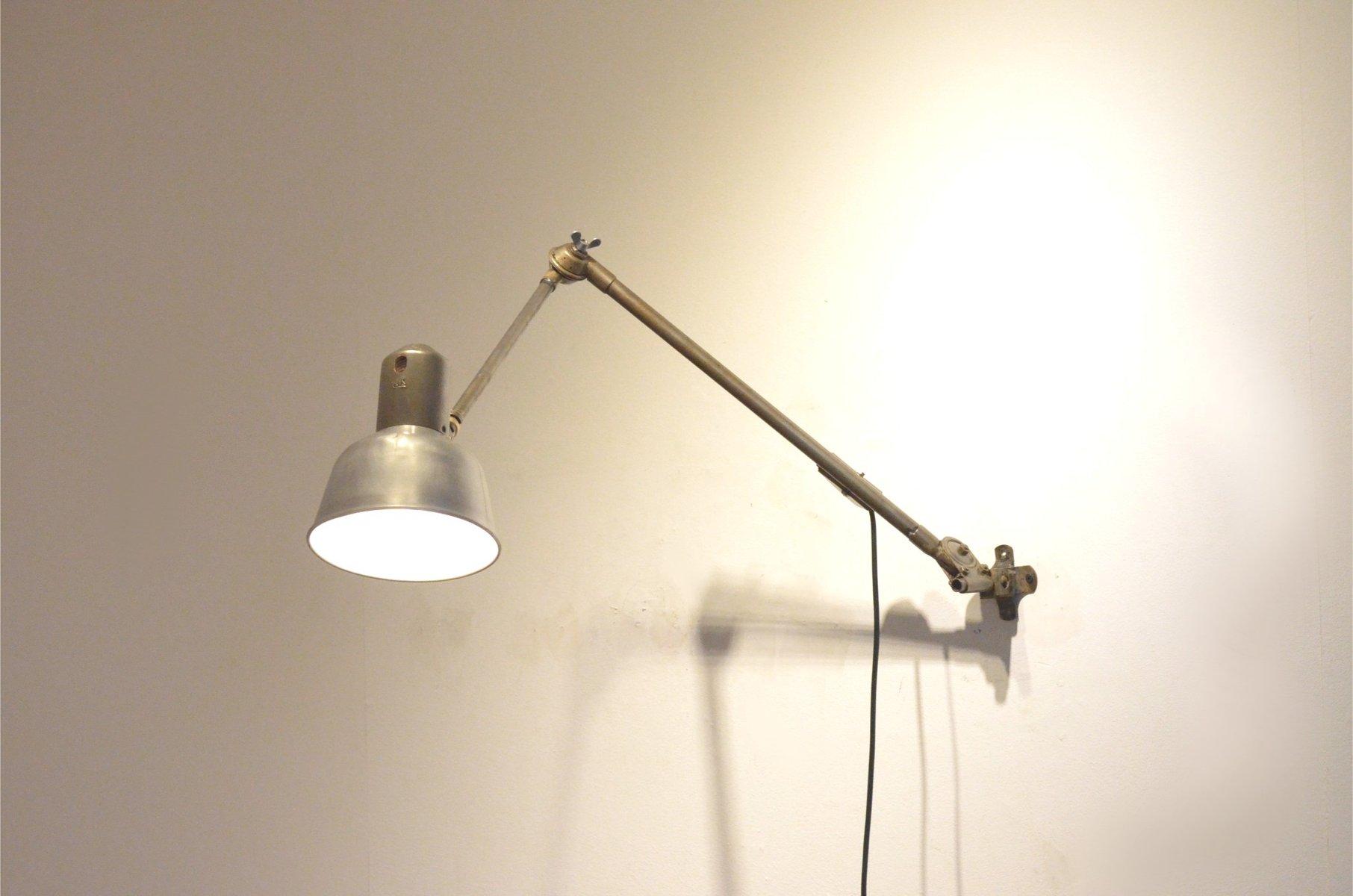 vintage industrie lampe mit metallgelenk von sis bei pamono kaufen. Black Bedroom Furniture Sets. Home Design Ideas
