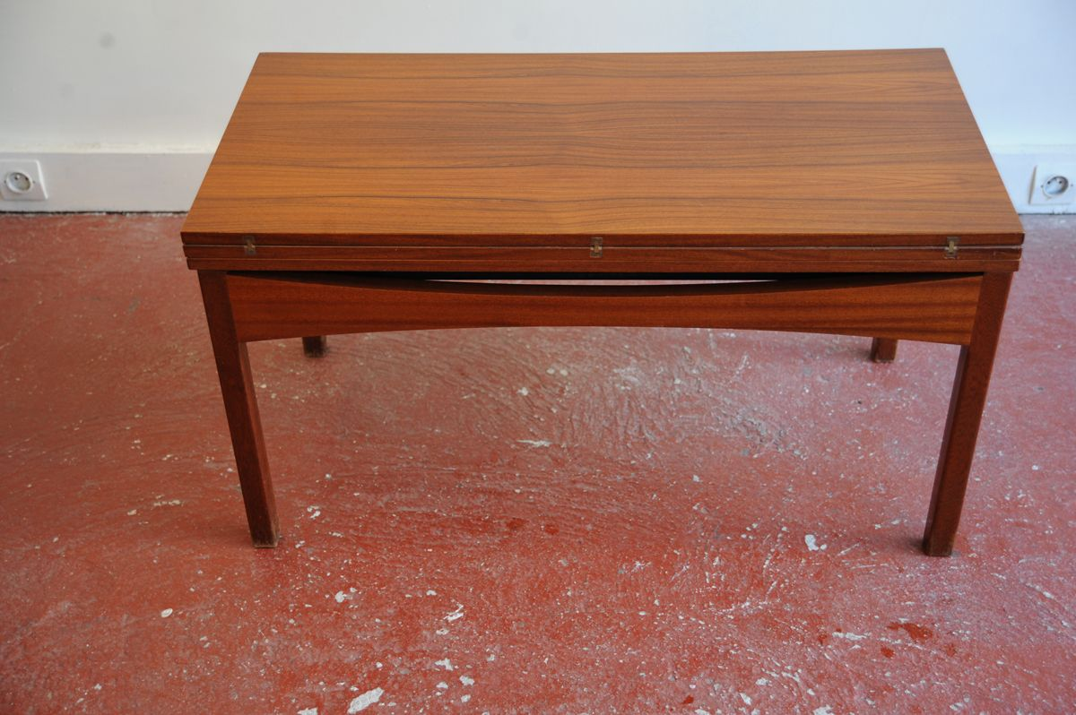 Vintage height adjustable rosewood coffee or dining table for sale at pamono Coffee table dining