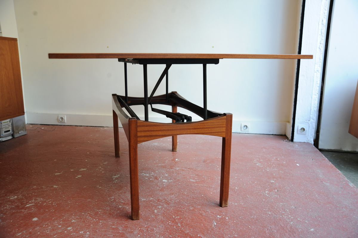 Vintage Height Adjustable Rosewood Coffee or Dining Table  : vintage height adjustable rosewood coffee or dining table 7 from www.pamono.com size 1200 x 798 jpeg 670kB