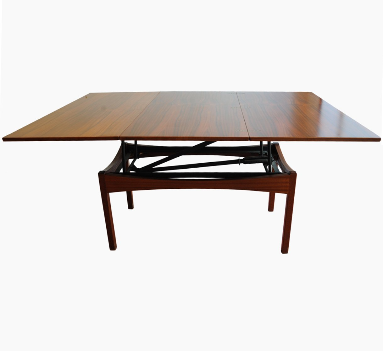 Vintage height adjustable rosewood coffee or dining table for Adjustable coffee table