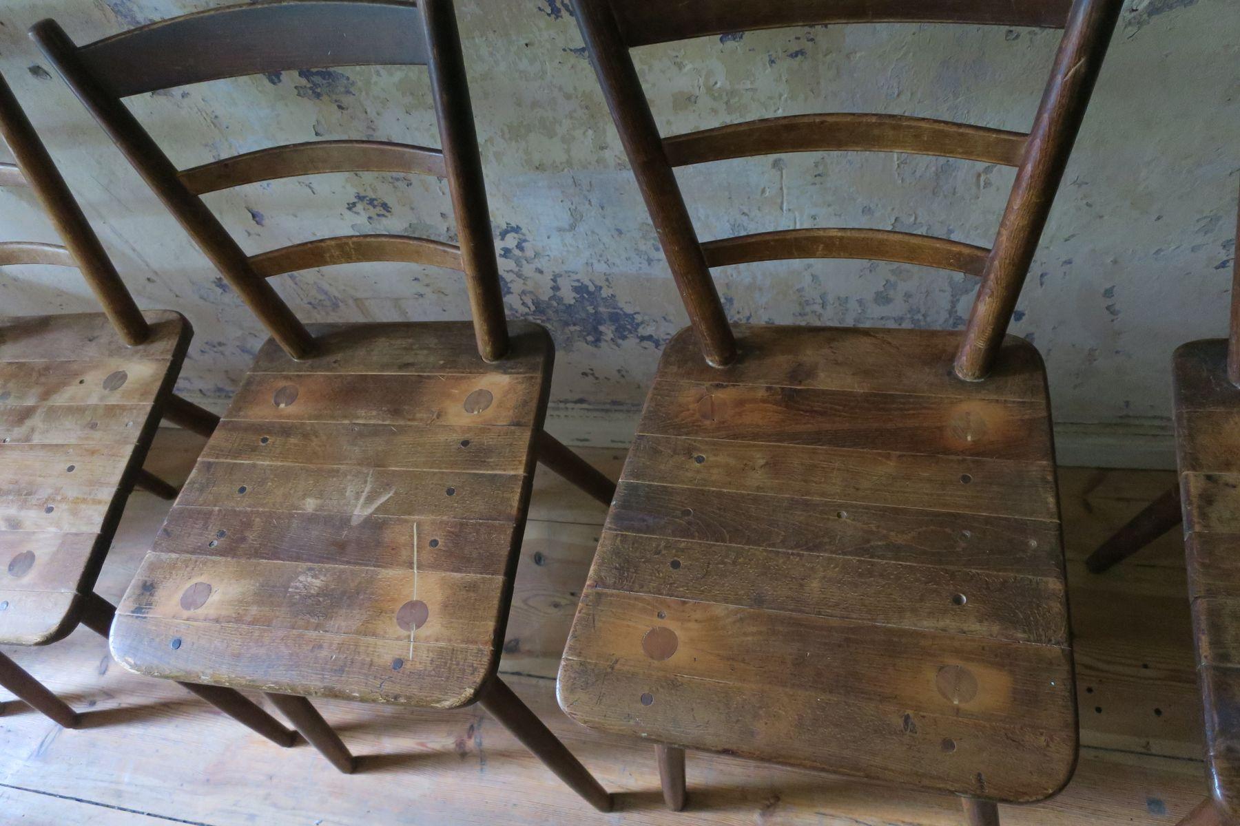 vintage munich beer hall board chairs set of 6 for sale. Black Bedroom Furniture Sets. Home Design Ideas