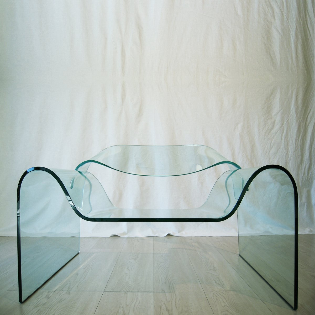 Ghost Glass Armchair By Cini Boeri Tomu Katayanagi For Fiam 1987 For S