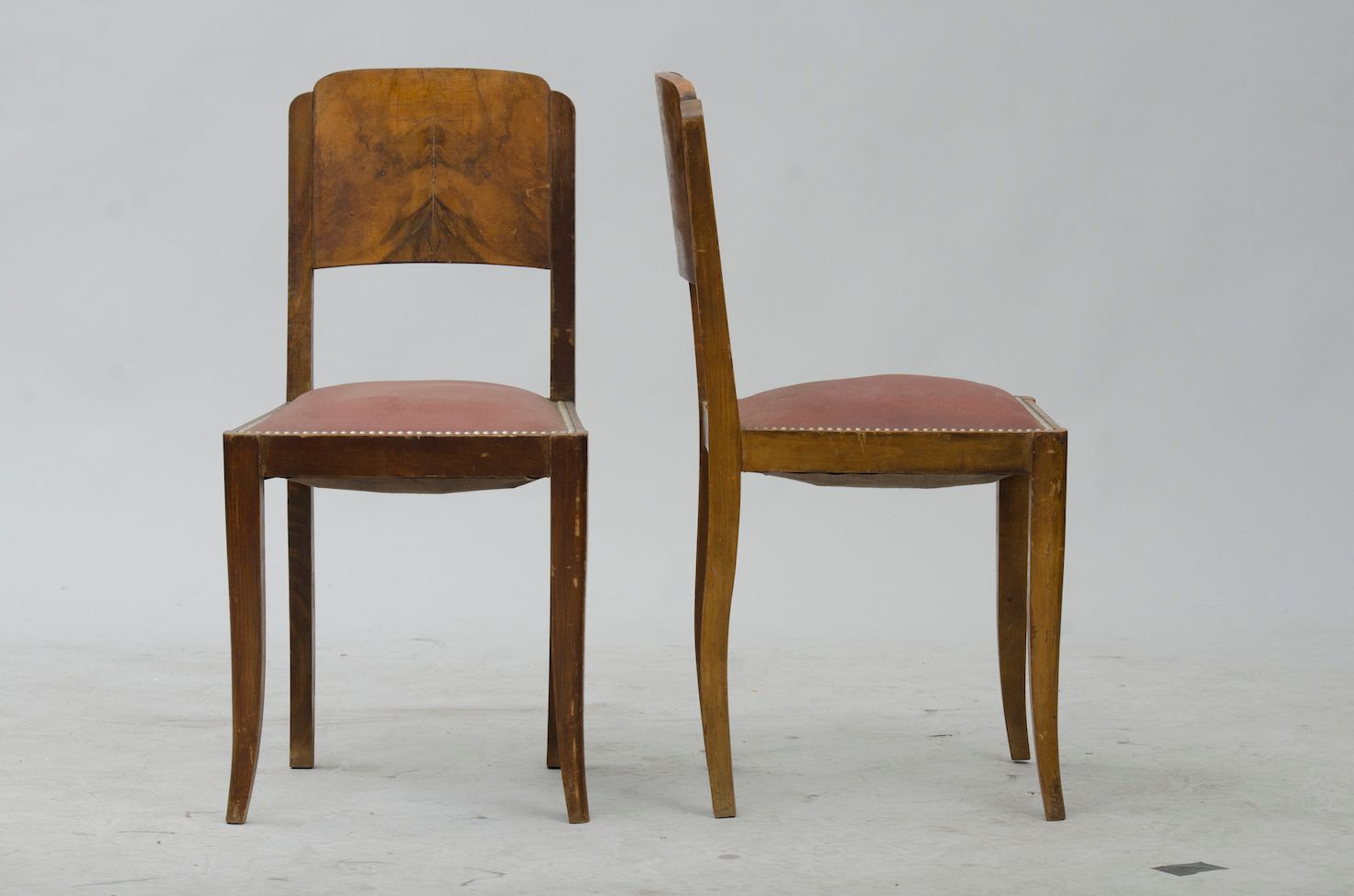 Price per set - Vintage French Walnut Dining Chairs, Set Of 6 For Sale At Pamono