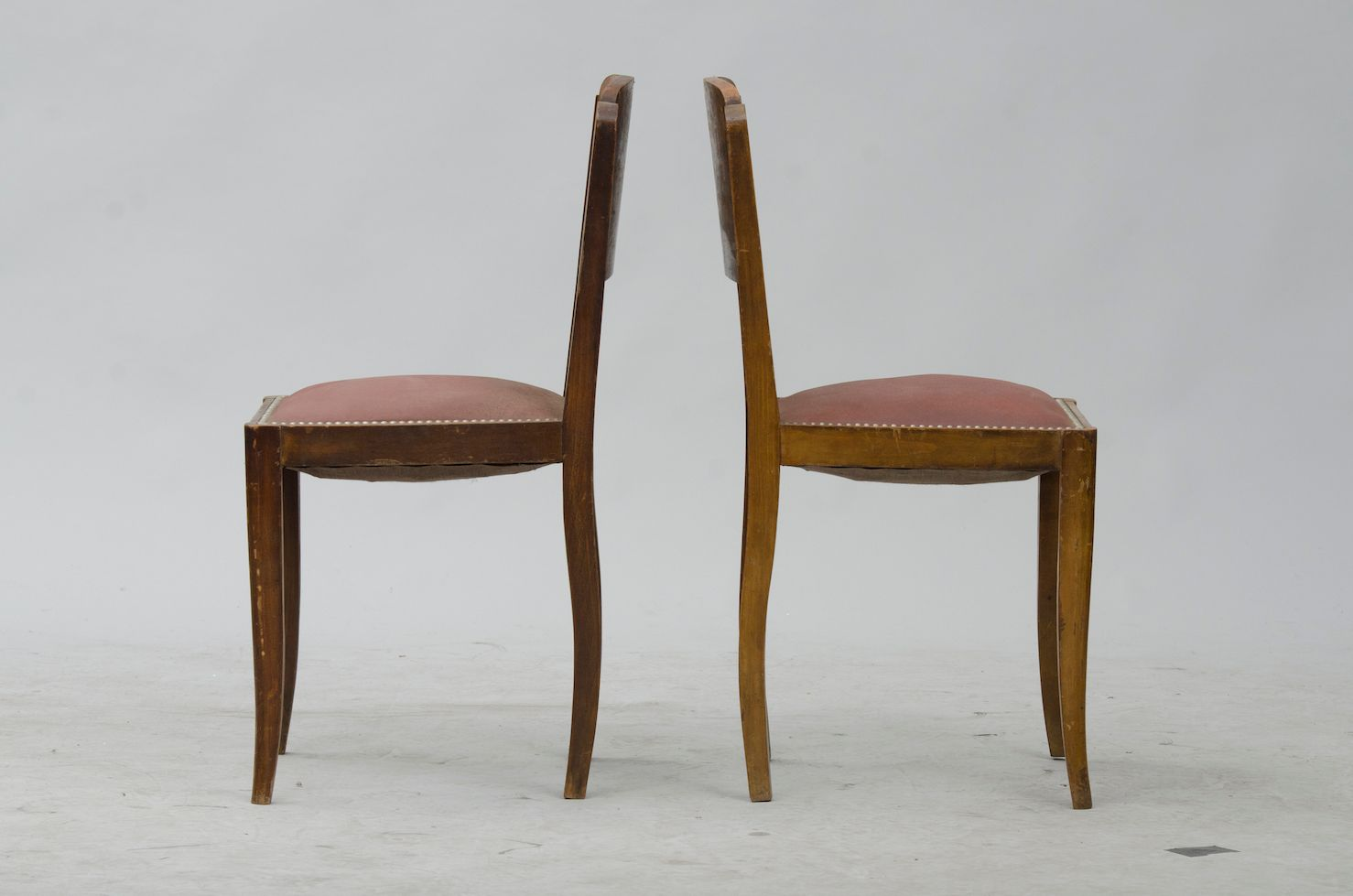 vintage french walnut dining chairs set of  for sale at pamono - price per set