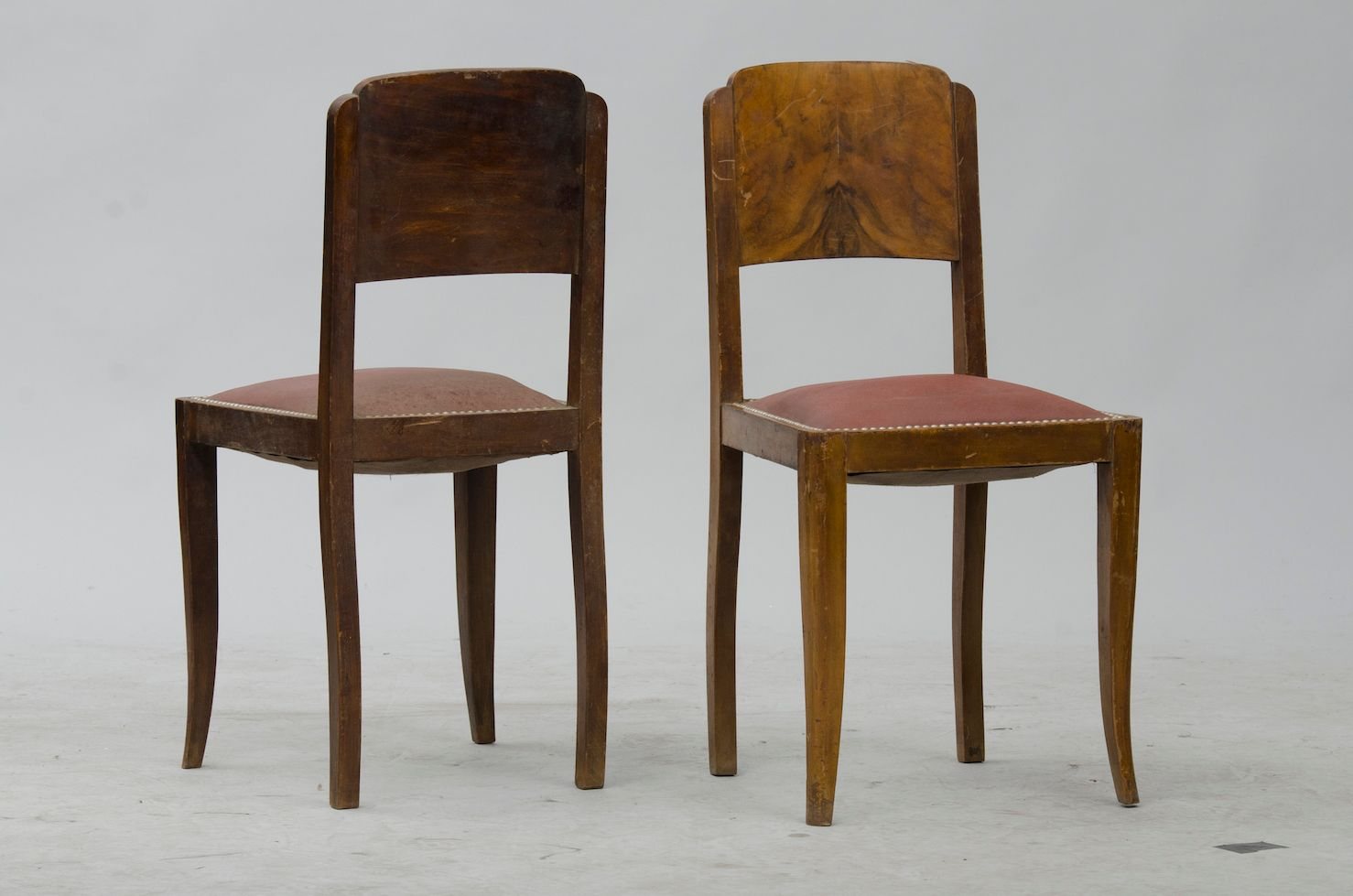 vintage french walnut dining chairs set of  for sale at pamono - vintage french walnut dining chairs set of